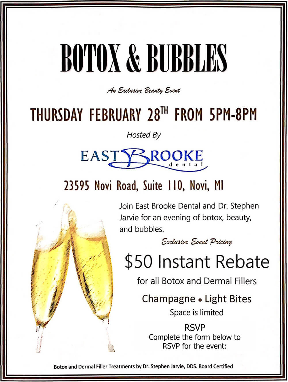 Bubbles and Botox Event